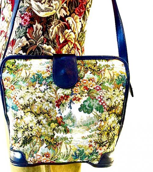 USA vintage tapestry bag for Women!  写真