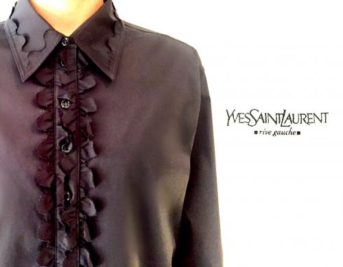 【 YVES SAINT LAURENT rive gauche 】design blouse for Women!写真