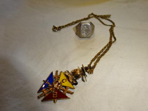 1890~1900's Freemason Necklace写真