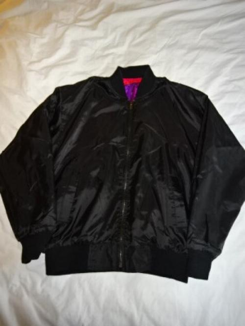 "1980's Silk × Nylon Zip-Up Jacket ""Reversible""写真"