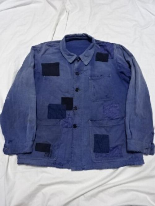 "1960~70's French Work Jacket ""St.JAMES Patchwork Repair""写真"