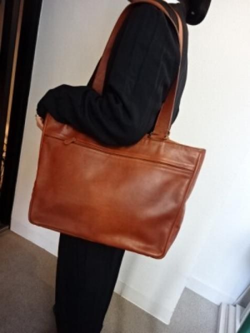 "Leather Big Tote Bag ""Old COACH""写真"