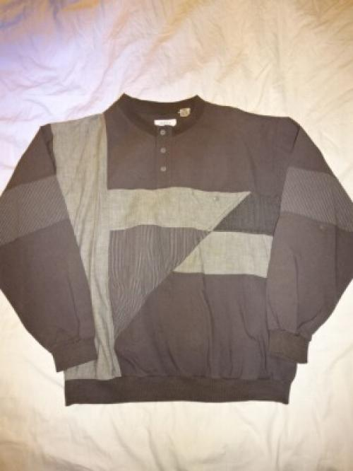 1980's Switched Design Cotton Pullover Tops写真