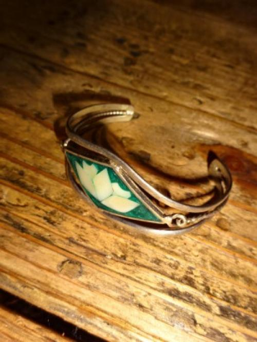 1970's Silver×Shell Bangle写真
