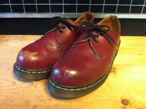 Dr.Martens スチールトゥ 3ホールローカット (チェリーレッド) USED写真