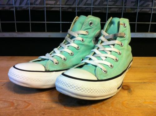 converse ALL STAR COLORS HI (パステルミント) USED写真