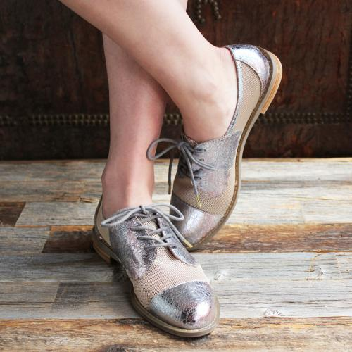 F-TROUPE - MESH BUTTERFLY SHOE (METALLIC LILAC)写真