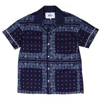 Bowling Shirt Indigo(paisley) / so far