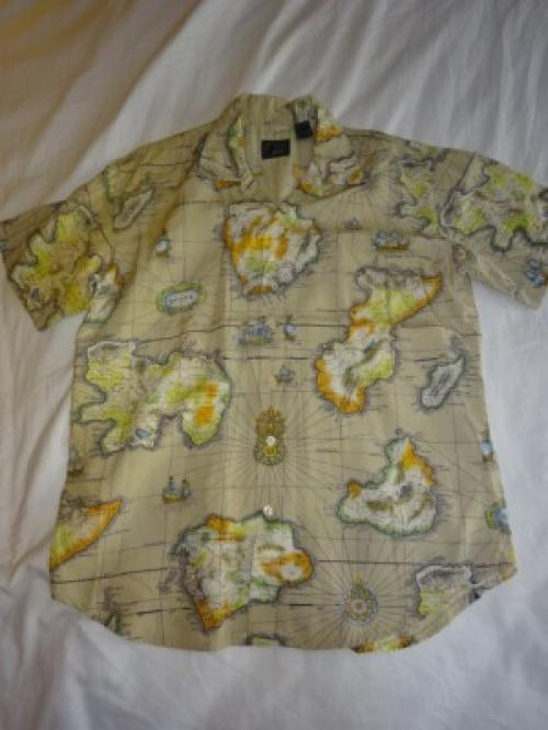 1990's Rayon Open-Collar Shirts写真