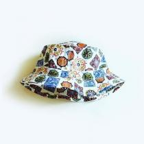 DEADSTOCK ! ~70's GEOMETRIC EASY-TO-ROLL HAT