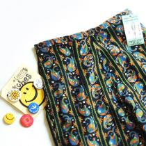 DEADSTOCK !1970's~ TOWN & COUNTRY Print-Cords Capri Pants