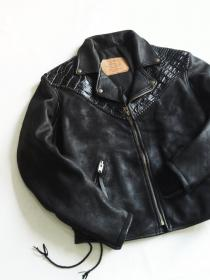 1980's Watter LEATHER Co, Crocodile-Press & Sheep-Skin Jacket