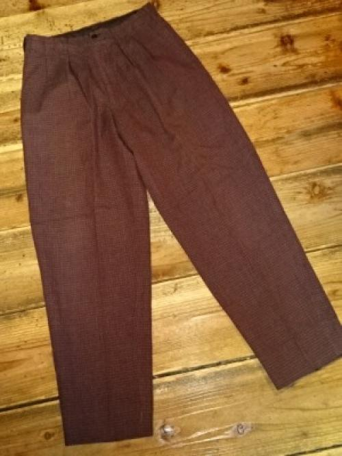 "Design Wool Wide Check Pants ""Y's""写真"