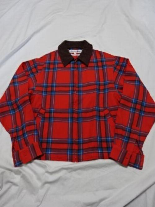 "Design Wool Check Zip-Up Jacket ""COMME des GARÇONS SHIRT""写真"