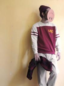 Put on 1970's~ USC by ARTEX 2tone Sweat - made in U.S.A
