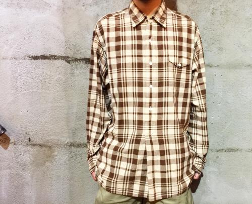 【 pullover long sleeve check  shirt 】 写真