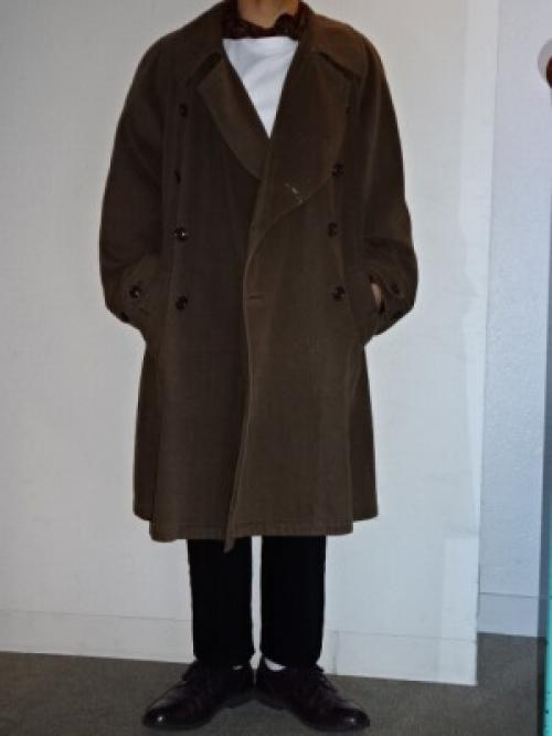 "1990's Big Silhouette Design Long Coat ""EMPORIO ARMANI""写真"