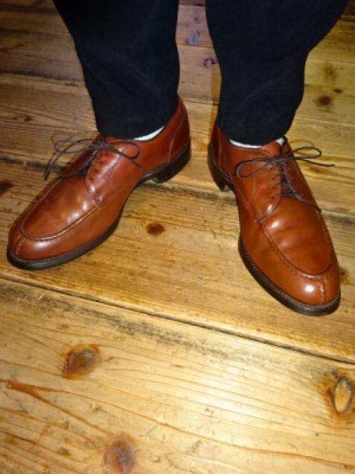 "U-Tip Leather Shoes ""Allen Edmonds""写真"