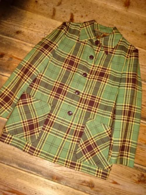 1940's Tailor-Made Wool Check Jacket写真