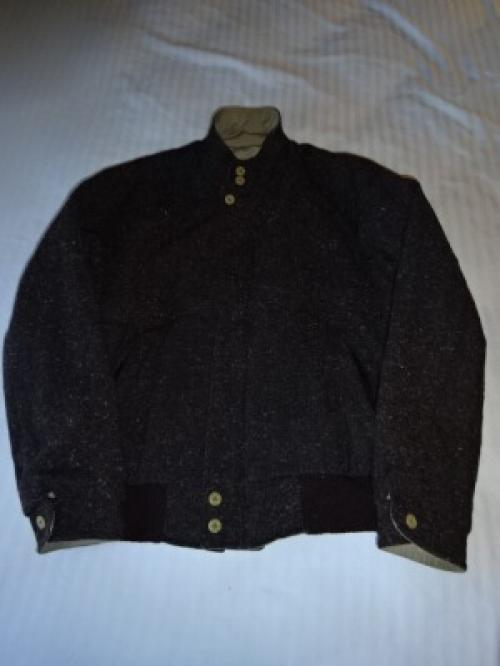 "1980's Tweed × Cotton Zip-Up Jacket ""Reversible""写真"