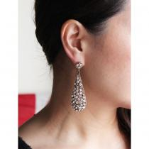 C.1960s Vintage Rhinestone Drop Pierce