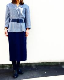 【 set up style dresses with belt 】