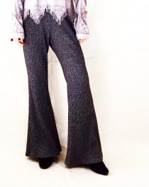 【 flare knit pants 】