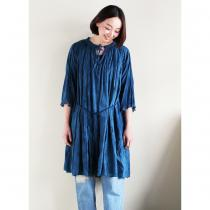 Maison de Li:lys by YU:YU - Gathered Long Blouse (indigo)