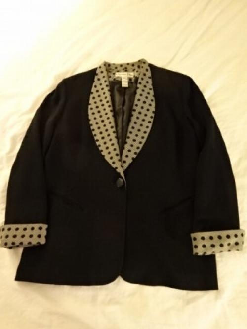 "1980's Shawl-Collar Design Jacket ""Christian Dior""写真"