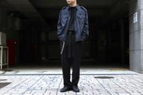 SYU. HOMME/FEMM 2018SS Gabardine-Skater pants With Bag Type semi wide