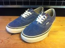 VANS ERA DENIM (ブルー) USED