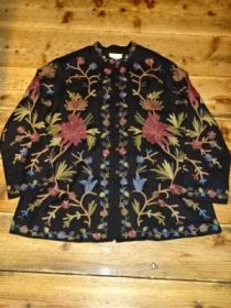 Big Silhouette Embroidery China Shirt Jacket