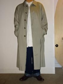 1980~90's Design Long Soutien Collar Coat
