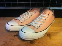 converse ALL STAR 100 COLORS OX (ピーチ) USED