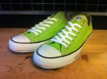 converse ALL STAR COLORS OX (ライムグリーン) USED