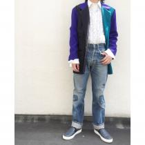 【 Crazy pattern tailored jacket 】