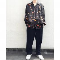 【 feather design L/S shirt 】 recommend for Men.