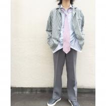 【 striped pajamas shirt 】