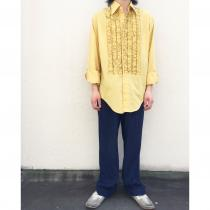 【 70s〜 L/S frill shirt 】 recommend for Men.