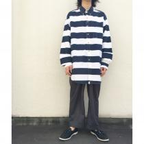 【 BORDER PATTERN L/S B.D SHIRT 】 recommend for Men.
