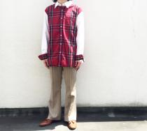 【 check pattern L/S shirt 】