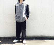【 glen check × dot pattern 】