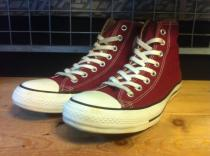 converse ALL STAR COLORS HI (マルーン) USED