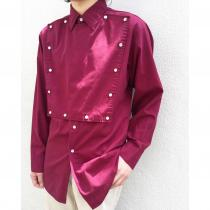 【 L/S front button design shirt 】 recommend for Men.