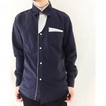 【 Switching neck design L/S shirt 】 recommend for Men.