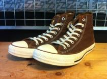 converse ALL STAR PIPING HI (ダークブラウン/ブラウン) USED