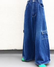 【 DESIGN DENIM WIDE PANTS 】 recommend for Men.
