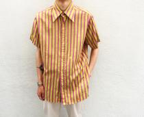 【 striped pattern S/S shirt 】