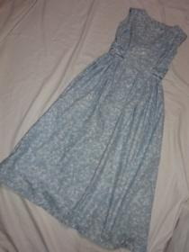 1960's Cotton No Sleeve One-Piece