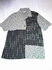 1980~90's Switched Design Open Collar Shirt